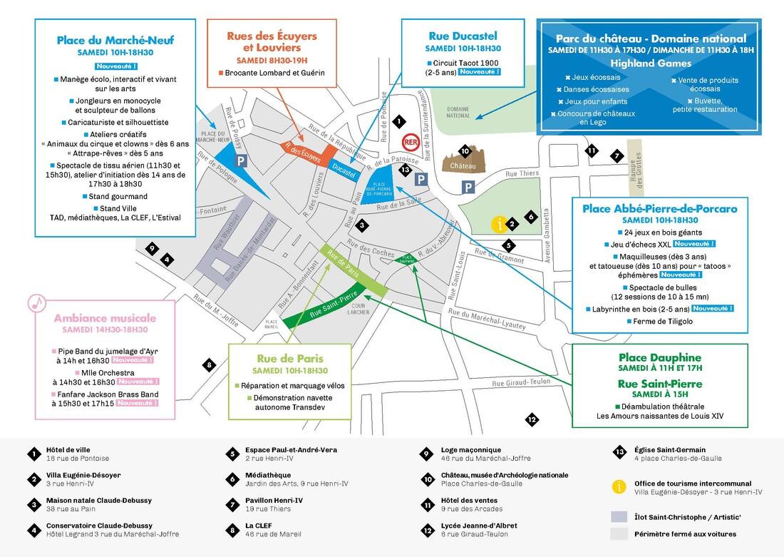 Plan des animations de la ville JEP 2019