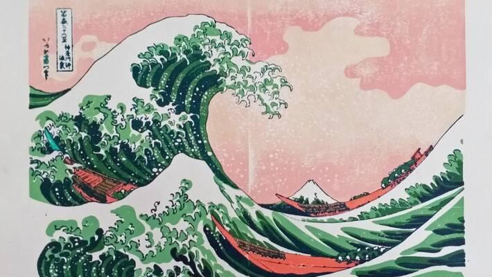 - À la manière d'Hokusaï - œuvres graphiques de Bram