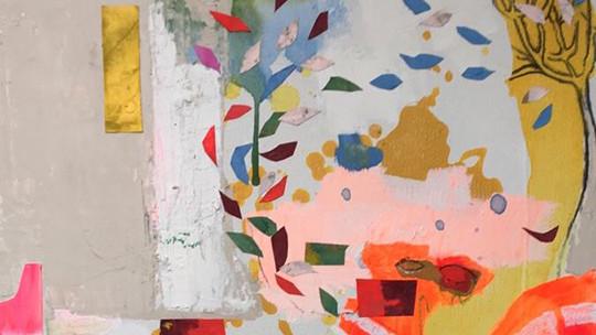 Affiche de l'exposition La couleur des rêves de Mathilde Bellecombe