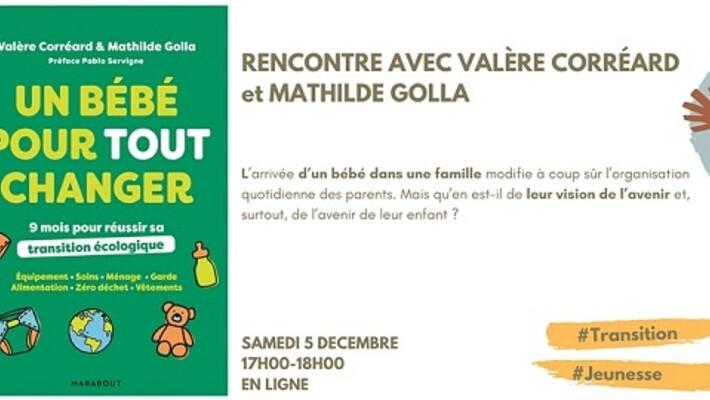 - Rencontre avec Valère Corréard et Mathilde Golla (en ligne)