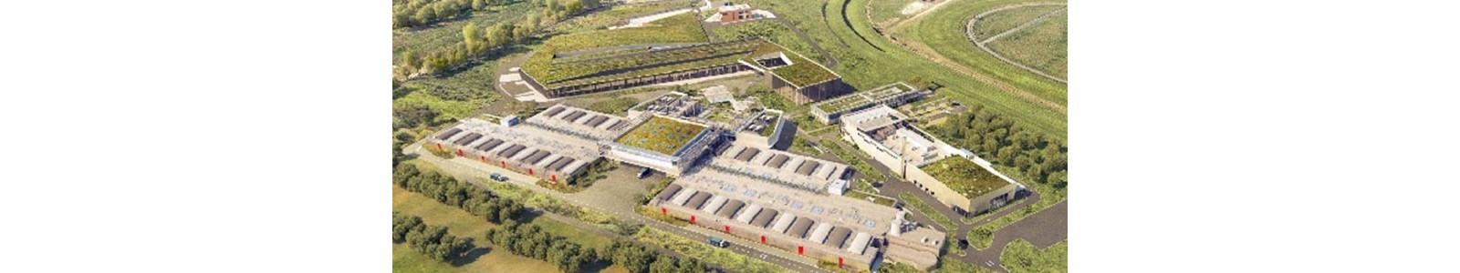 Vue du ciel de l'usine Seine Aval du SIAAP