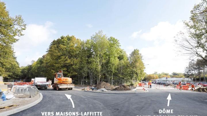 Carrefour avenue des Loges et route de Maisons-Laffitte : réouverture dans le courant du mois d'octobre