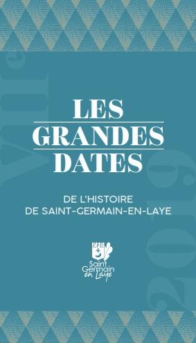 Couverture dépliant Grandes dates de l'histoire de saint-germain-en-laye