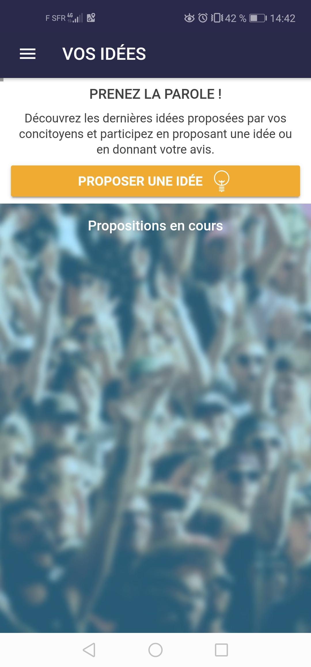 """Module """"Vos idées"""" de l'application mobile SGL"""