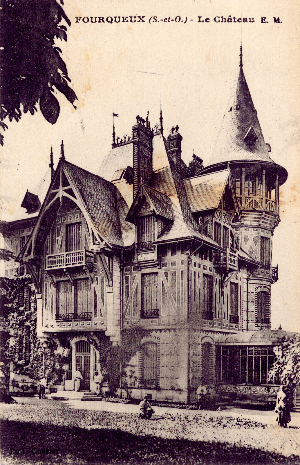 Ancienne carte postale de la Villa Colin