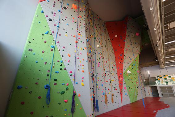 Mur d'escalade du gymnase des Lavandières