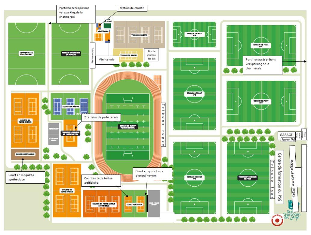 Plan du stade Georges-Lefèvre