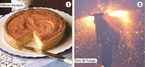 Image gateau basque et Toro de fuego