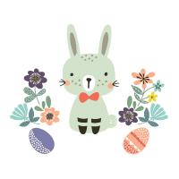 lapin chasse aux œufs de Pâques