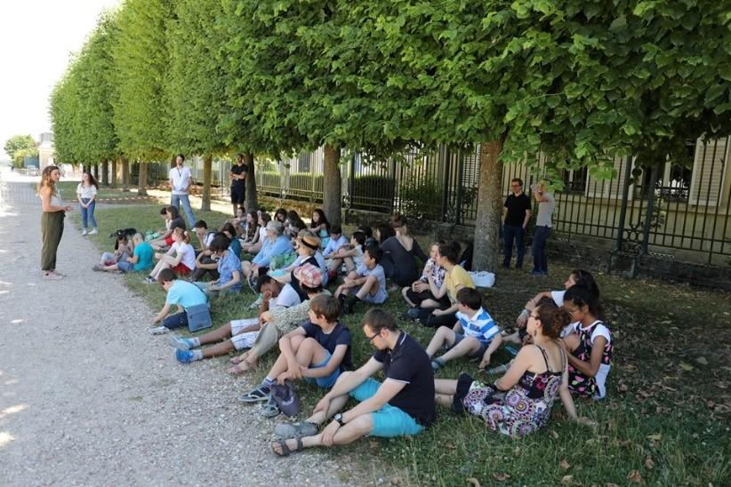 Coulisse de l'Opéra en plein air (dans le parc du château, Domaine national)