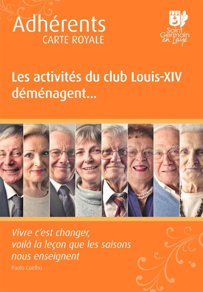Dépliant déménagement du club Louis XIV