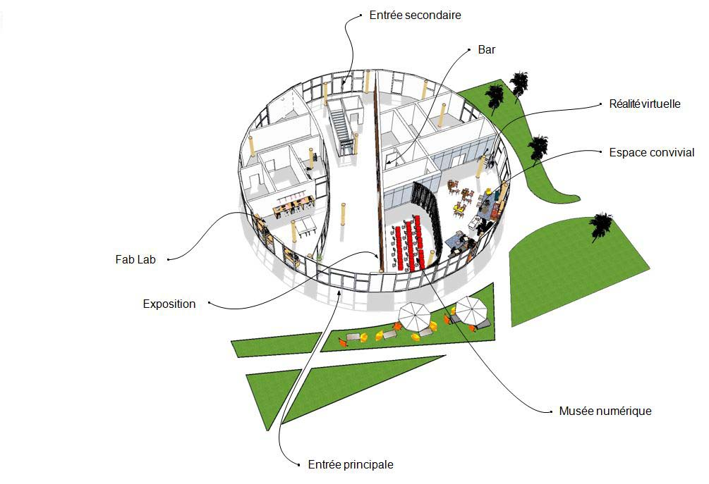 Plan de la vue d'ensemble de la Micro-Folie de Saint-Germain-en-Laye