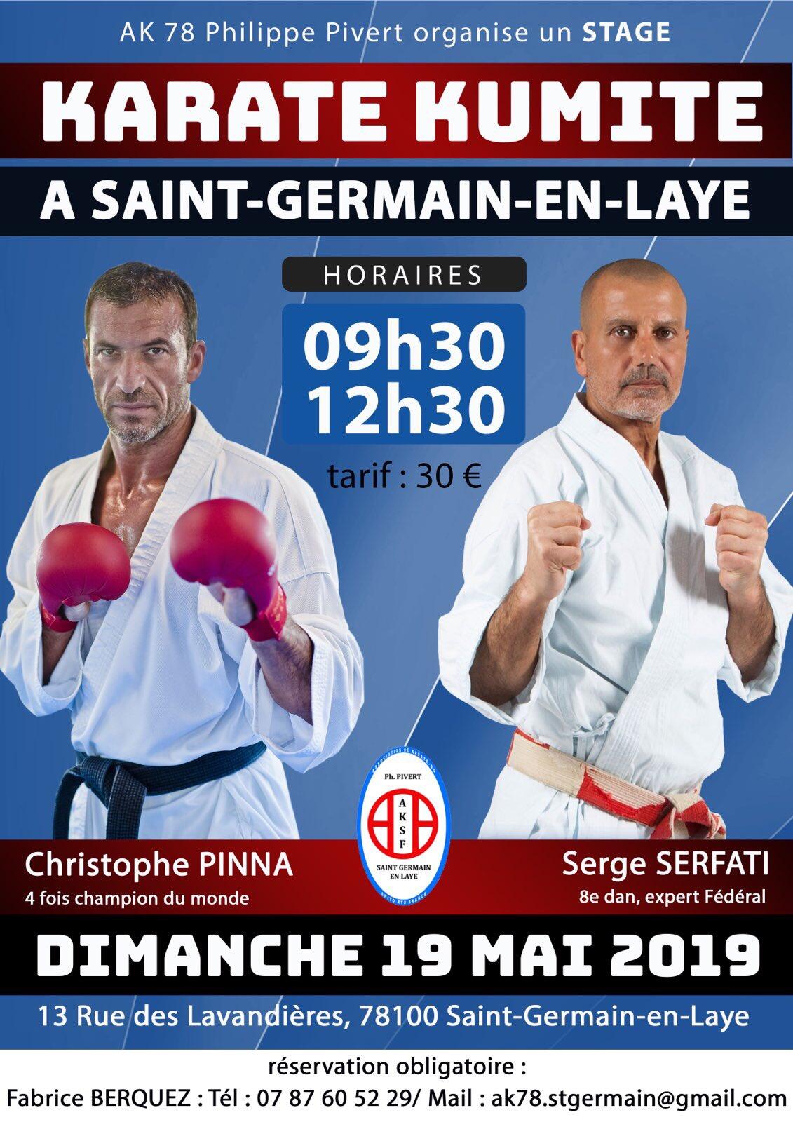 Stage kumite avec Serge Serfati et Christophe Pinna
