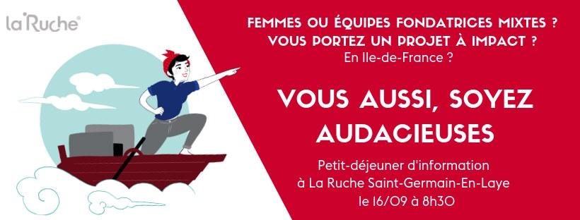 Le Quai - Les Audacieuses : petit-déjeuner de présentation du programme à Saint-Germain