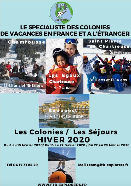 Ouverture des inscriptions pour les colonies de vacances d'hiver 2020