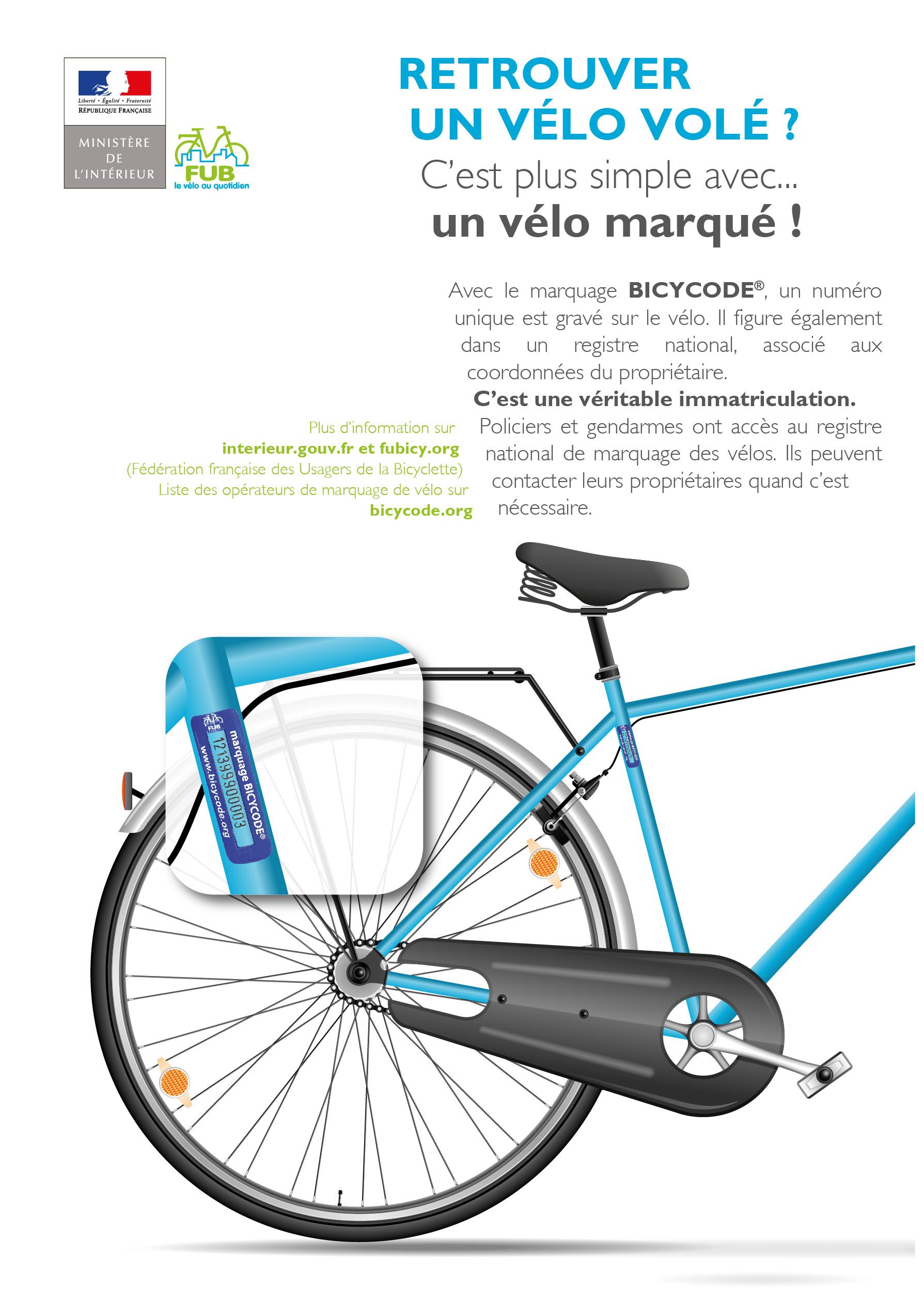 Campagne de marquage de vélos BICYCODE