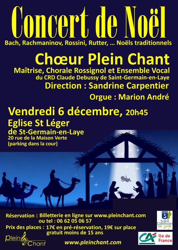 Concert de Noël du choeur Plein chant