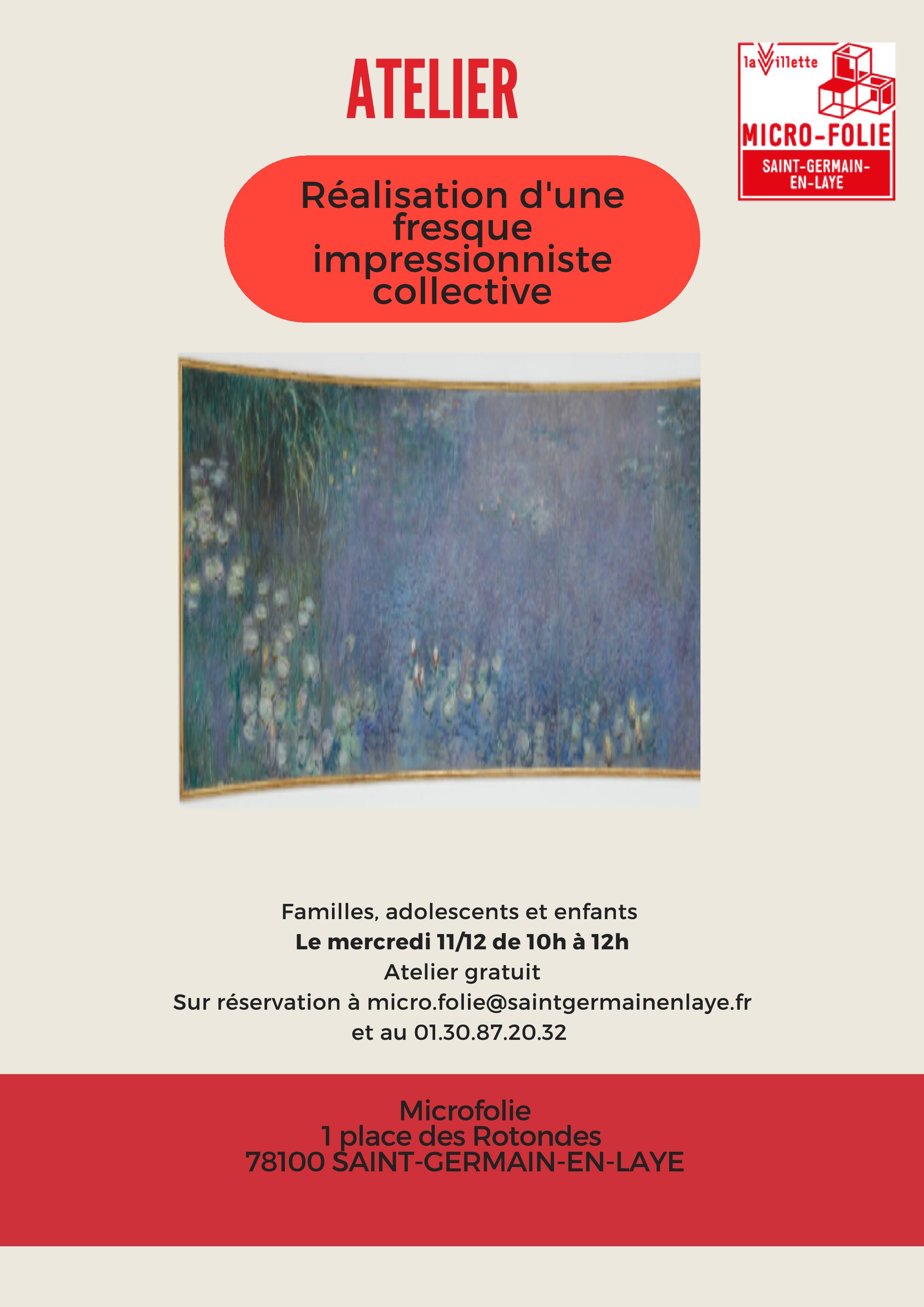[Micro-Folie] Atelier « Création d'une fresque impressionniste collective »