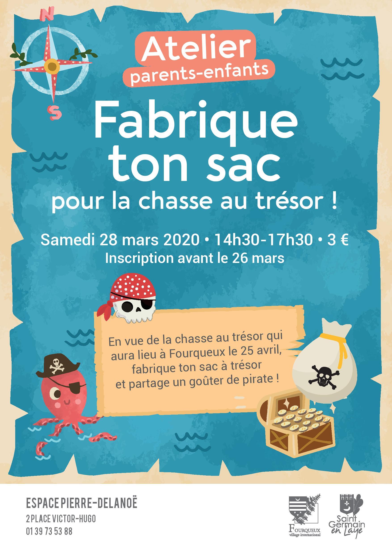 [Ateliers parents-enfants] « Fabrique ton sac pour la chasse au trésor ! »