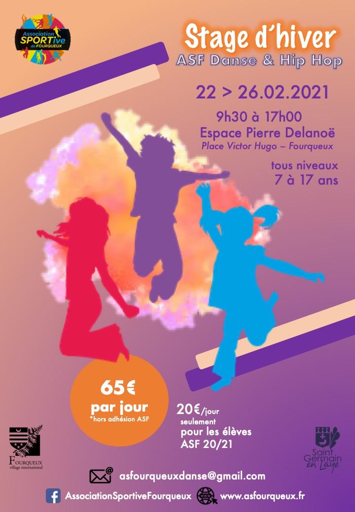 Stage d'hiver avec ASF danse et hip hop